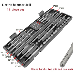 11pcs/set Carbide Electric Hammer Drill Bits For Concrete Stone Impact Metal Drill Bit Round Grip Drills with Package