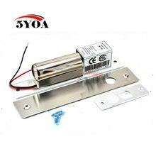 Fechadura de parafuso elétrico, 2 linhas dc 12v aço inoxidável resistente não seguro acesso da porta da gota controle de segurança