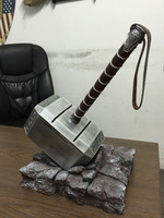 [Best] 1:1 The Avengers Thor hammer mjolnir base toy show base model adult children costume party cosplay toys collection gift