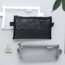 Прозрачный папка для документов мешок карандаша застежки-молнии Карандаш сумка, школьные принадлежности стационарный