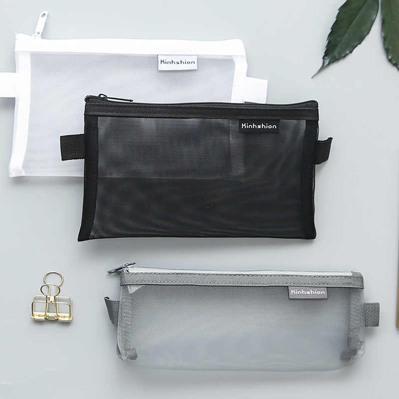 Transparent Clear File Folder Zipper Pencil Pouch Pencil Bag School Supplies Stationary