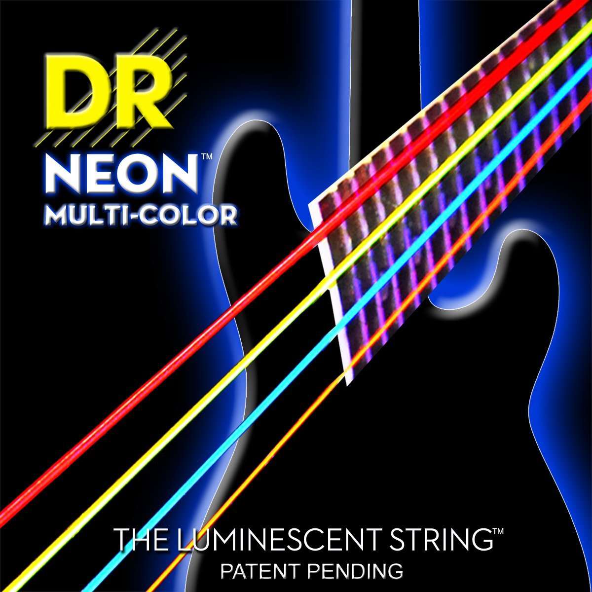DR Strings NMCB-40 NMCB-45 NMCB5-45 DR K3 NEON Bass Guitar Strings, Light, Multi-Color new for sony vgn fj series laptop us keyboard 147951221 black