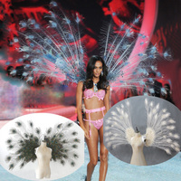 Top quality peacock style angel feather wings cosplay supply fairy wings Beautiful wedding Birthday party deco props