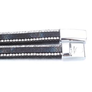 Image 4 - 10pcs/lot Snap Button Jewelry DIY 18mm Snap Buttons Bracelet Crystal Leather Magnet Bracelet Length 40CM Buttons Jewelry