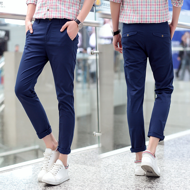 Mens Blue Khaki Pants | Gpant