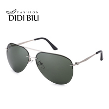 Classic Mens Polarized Sunglasses Aviation Vintage Thin Metal Frame Big Sun Glasses Driving Goggles Green Shades Oculos HL1000