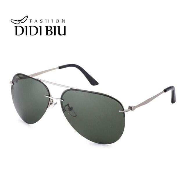 f10dacc811b Classic Men s Polarized Sunglasses Aviation Vintage Thin Metal Frame Big Sun  Glasses Driving Goggles Green Shades