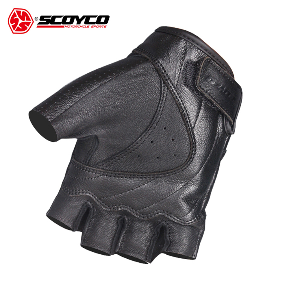 SCOYCO Motorcycle Gloves Moto Gloves Motocross Racing Gloves Leather Motorcycle Riding Half Finger Gloves Luva Couro Motoqueiro-in Gloves from Automobiles & Motorcycles    2