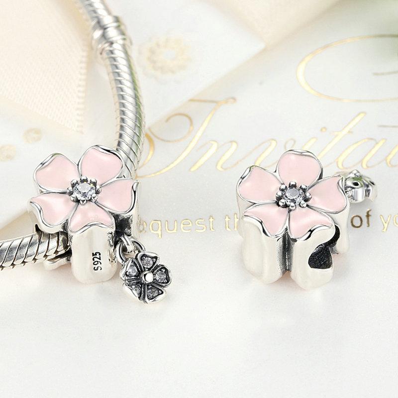 5b1b30895 ... promo code for 925 sterling silver drop oil flower pendant charm fits  pandora bracelet necklace in