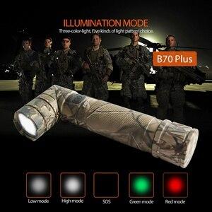 Image 4 - NICRON Magnet 90 Grad Wiederaufladbare LED Taschenlampe Handfree 800LM Ultra Hohe Helligkeit Wasserdicht Camo Ecke LED Taschenlampe B70