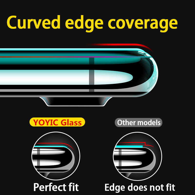 Image 4 - 15D Protective Tempered Glass On The For iPhone 6 6s 7 8 Plus X 10 Glass Screen Protector Soft Edge Curved For iPhone XR XS MAX-in Phone Screen Protectors from Cellphones & Telecommunications