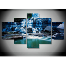 5 Piece canvas Huge Albion Falls Ontario Canada Beautiful Landscape Waterfall Decoration for home Wall Art Prints Canvas\C-815(China)
