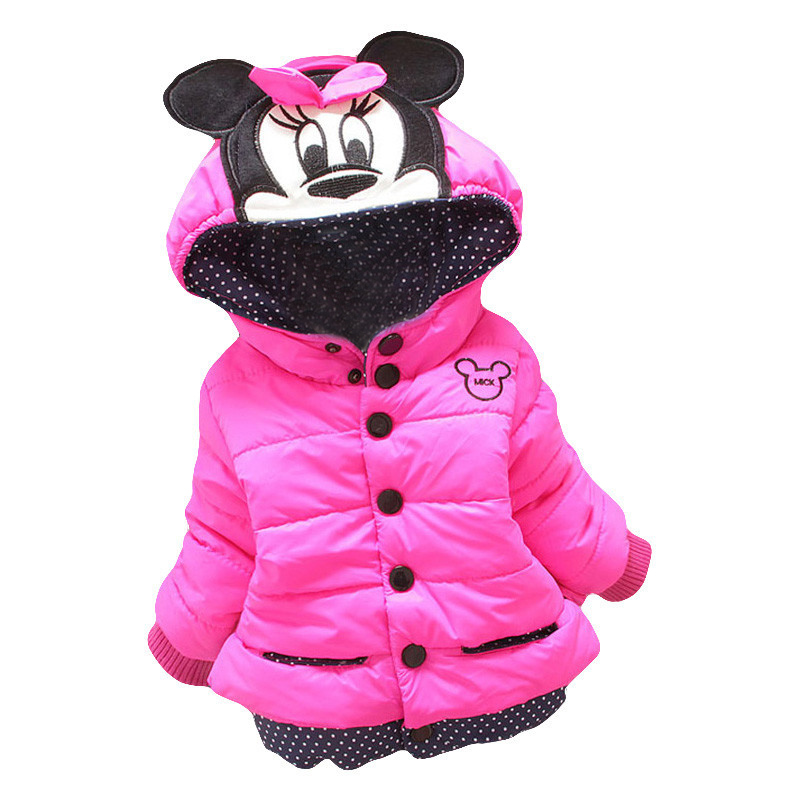 Big Size Baby Girls Jackets 2017 Autumn Winter Jacket For Girls Winter Minnie Coat Kids Clothes Children Warm Outerwear Coats