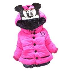 Große Größe Baby Mädchen Jacken 2017 Herbst Winter Jacke Für Mädchen Winter Minnie Mantel Kinder Kleidung Kinder Warme Oberbekleidung Mäntel
