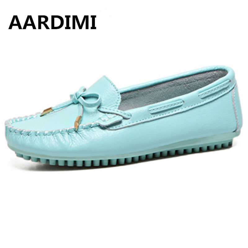 ФОТО Top quality designer solid women flats shoes genuine leather flat shoes women loafers single lazy shoes mocassins zapatos mujer