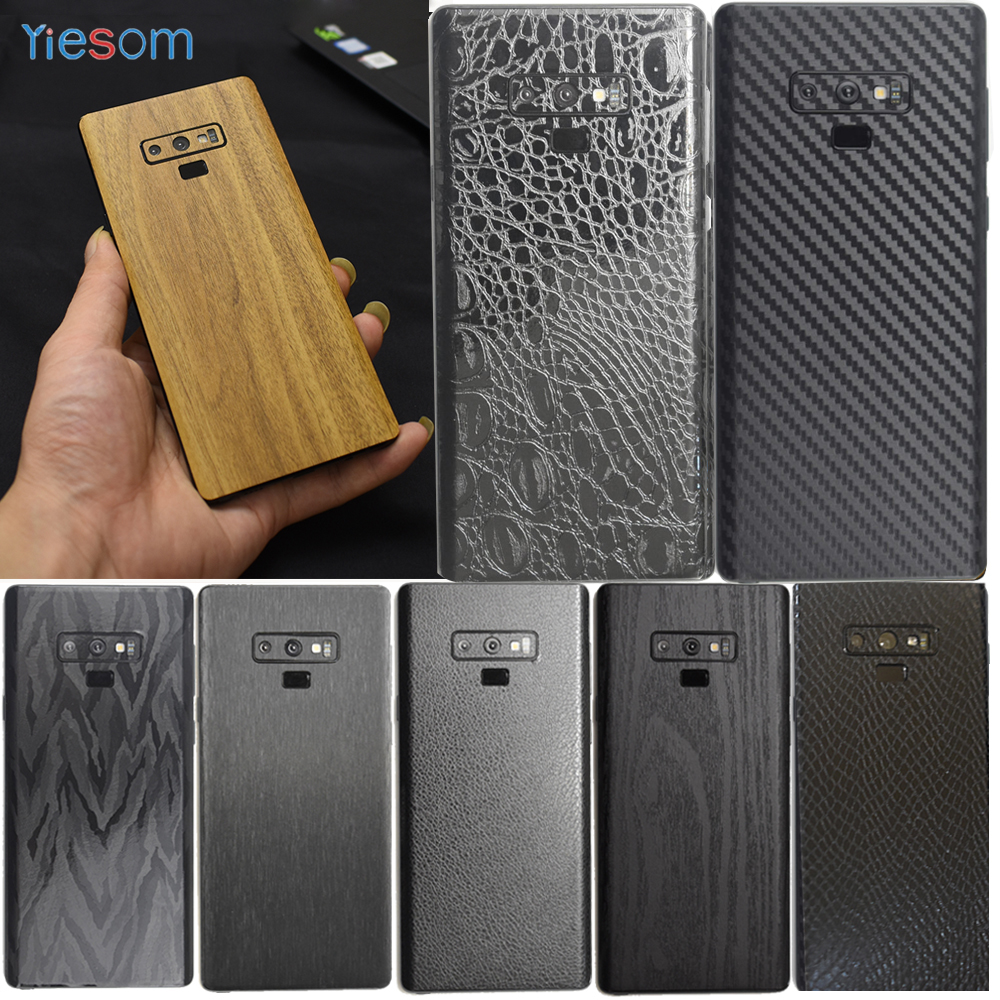 Cover Film For Samsung Galaxy Note 9 8 S8 S9 Leather Carbon Fiber Wood Skins Protective Sticker For Samsung S9 S8 Plus S10e S10+(China)
