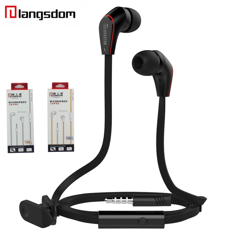 Langsdom JM12 Earphone Headset For Xiao Mi Wired In-ear Stereo Earphones Headsets With Mic Earpods For Iphone fone de ouvido baseus h03 in ear wired earphone headphone stereo hifi in line headset with mic for iphone xiaomi fone de ouvido kulakl k