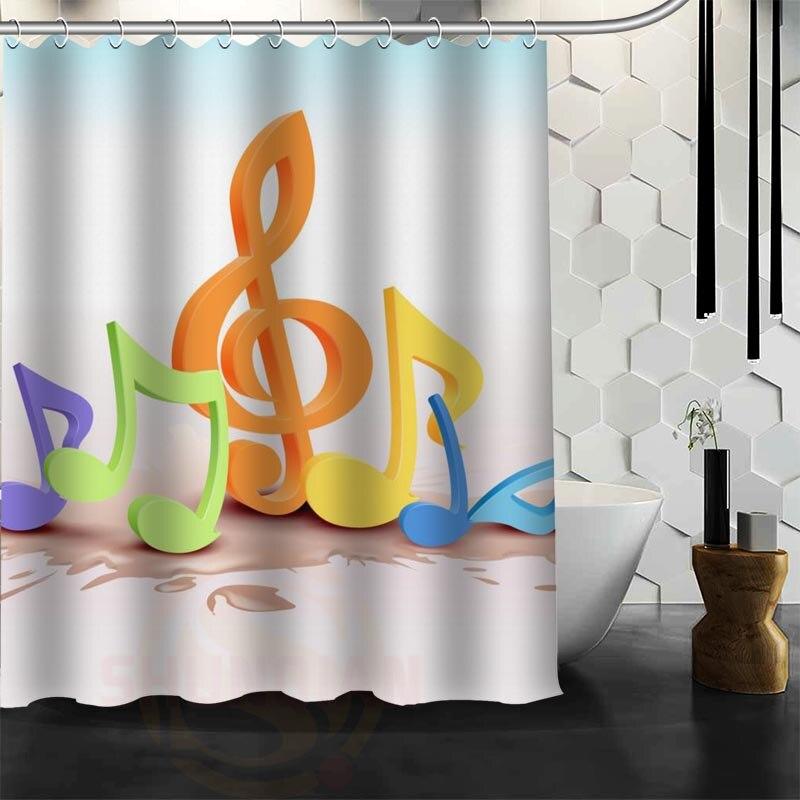 neue wasserdichte duschvorhang bad vorhang klassisch musiknote umweltfreundliche stoff dusche vorhang akzeptieren benutzerdefinierte in neue wasserdichte - Stoff Vorhang Dusche