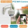 WIFI Dome PTZ Câmera IP Sem Fio 720 P HD 4X Zoom à prova d' água IP66 controle OLHO 4 & EyeCloud móvel