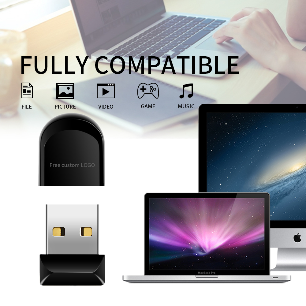 Usb Flash Drive 32GB USB 3.0 Mini Black Flash Memory 16gb 8gb 4gb Plastic Pen Drive 128gb 64gb High Quality U Disk Free Shipping (3)