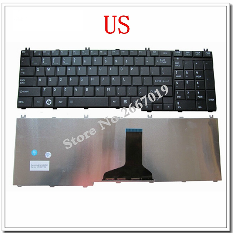 Image 2 - YALUZU NEW US keyboard For toshiba FOR Satellite C655 C650 C655D C660 L650 L655 L670 L675 L750 L755 US laptop keyboard-in Replacement Keyboards from Computer & Office on