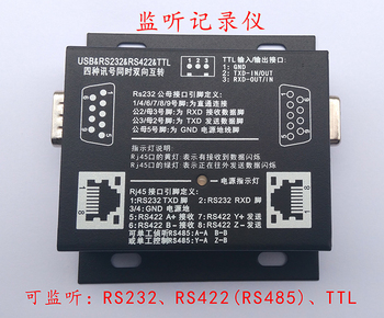 Serial Listener Serial Protocol Analyser USB to 232/422/485/TTL Four Signal Interchange Serial Port