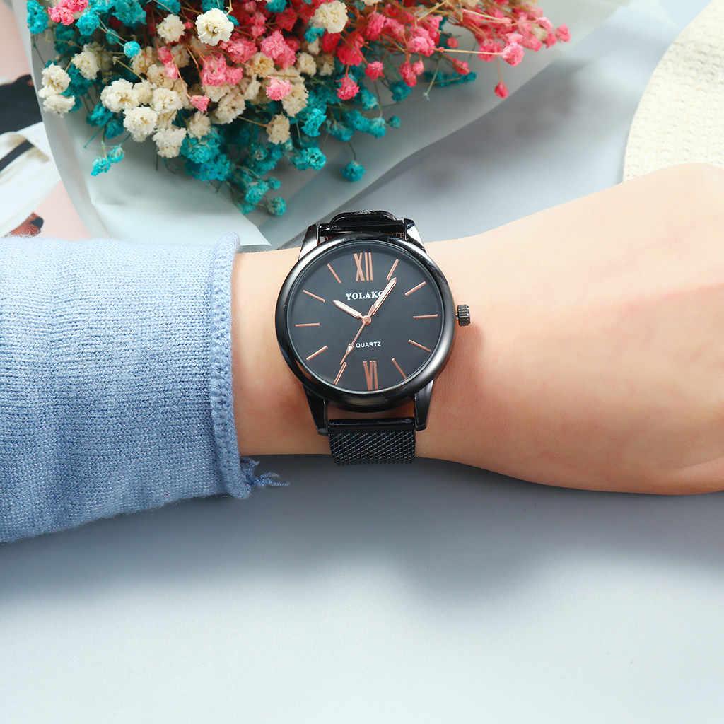 Relógio de pulso de quartzo montre femme senhoras vestido relógio feminino relógios de aço inoxidável de moda de luxo da marca