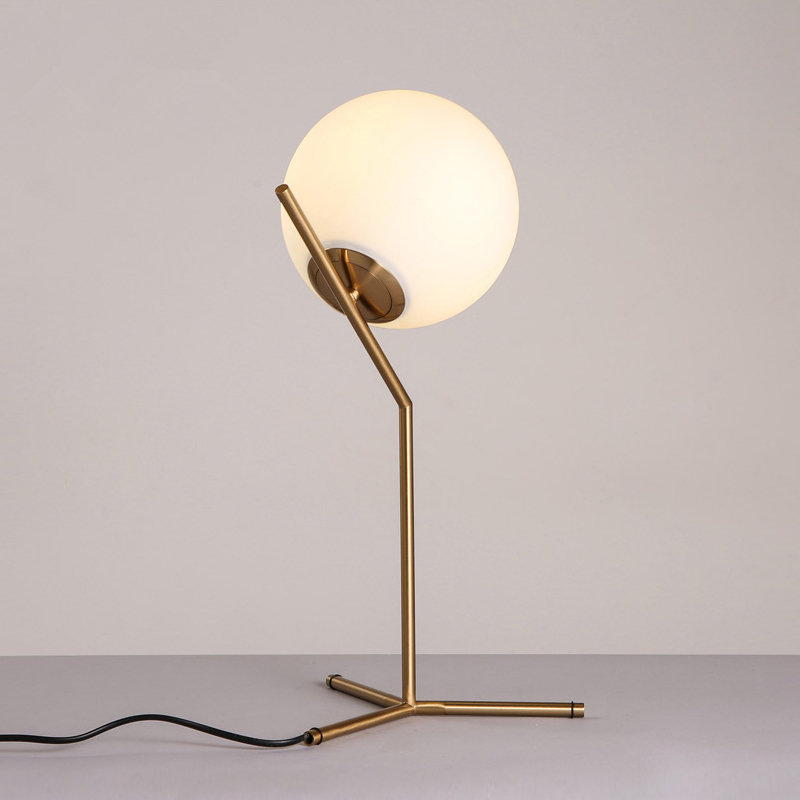 Nordic dia 20cm white glass ball table lamp gold bedside table lamps nordic dia 20cm white glass ball table lamp gold bedside table lamps e27 led desk light for bedroom lamparas de mesa tafellamp in led table lamps from aloadofball Gallery