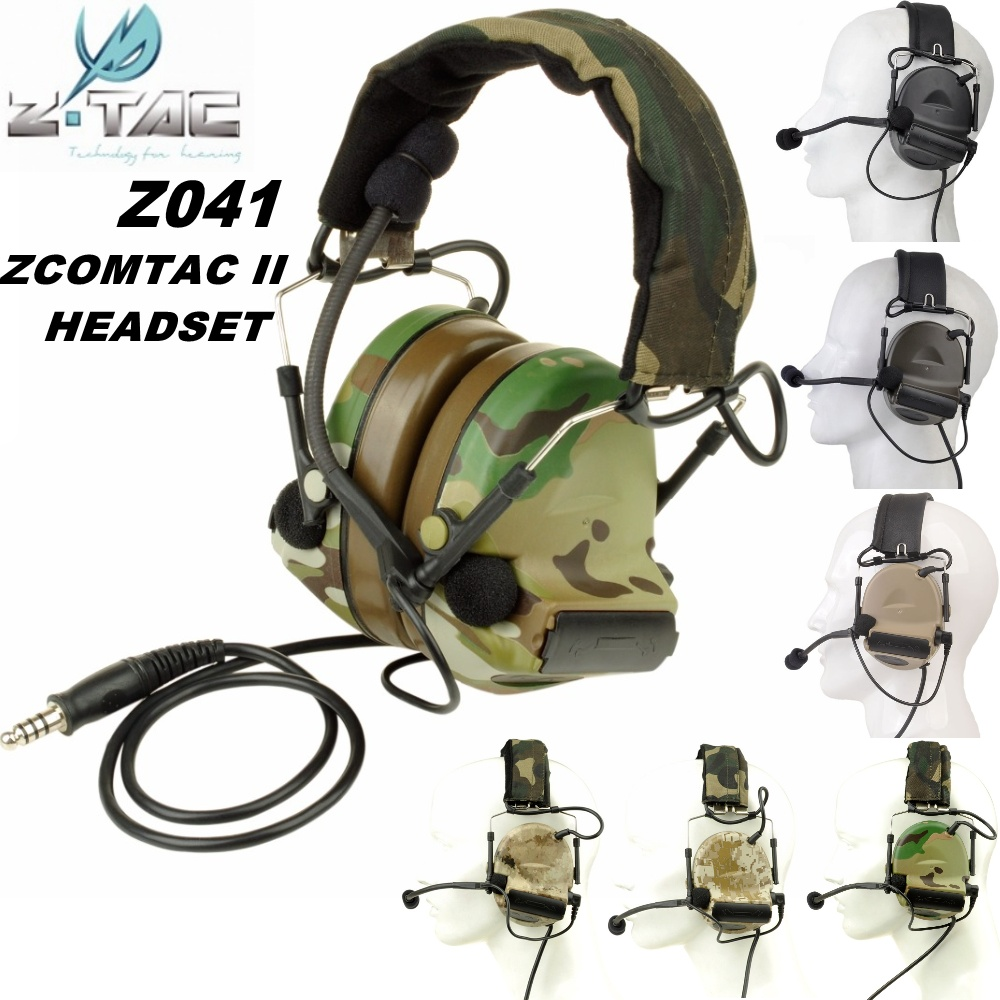 все цены на Z Tactical Comtac II Headset Airsoft Paintball Hunting Comtac 2 Headphone Active Noise Canceling Softair Military Earphone Z041 онлайн