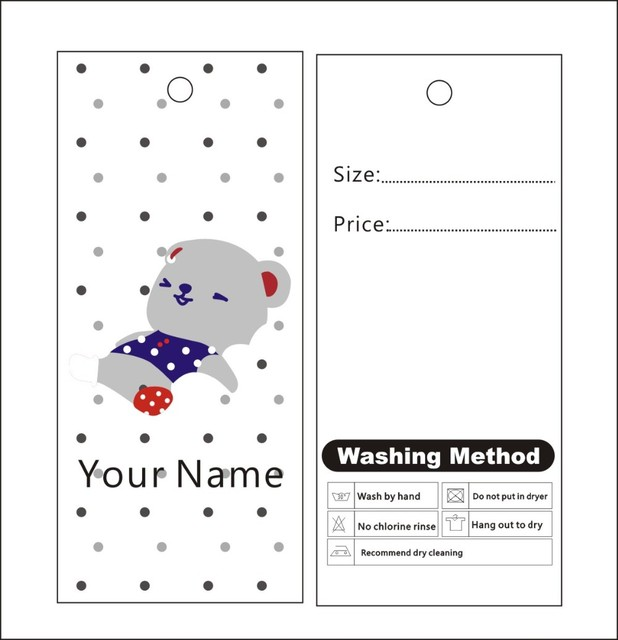 500pcs custom print winter hang tags price label template 012