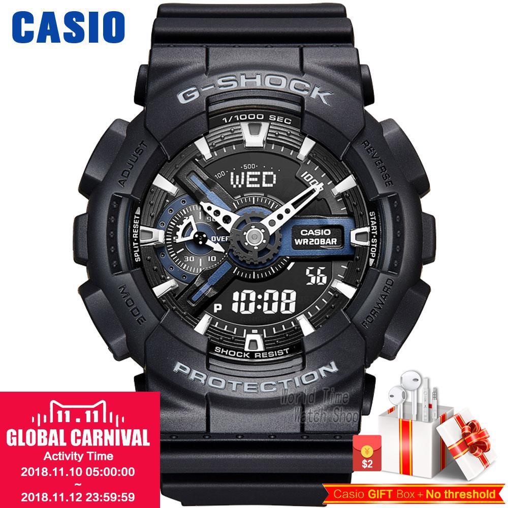 Casio watch Double shock anti-magnetic movement waterproof men's watch GA-110-1A GA-110-1B casio g shock ga 110 1a
