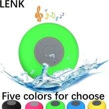 LENK Subwoofer Portable Impermeable Ducha Altavoz Inalámbrico Bluetooth Manos Libres Recibir Call Music Succión Mic para teléfonos inteligentes