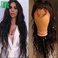 8A Pelo Brasileño de la Virgen Llena Del Cordón Pelucas de Pelo Humano Para Negro las mujeres de la Onda de Agua Sin Cola Del Frente Del Cordón Peluca de Pelo Humano Con El Bebé pelo