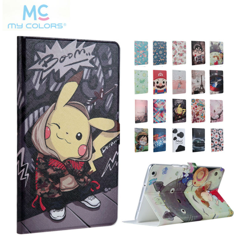 For Huawei M3 Lite 8.0 PU Leather Case Cover Colorful Print Skin For Huawei MediaPad M3 Lite 8 CPN-W09 CPN-AL00 Tablet PC Fundas ultra slim magnetic stand leather case cover for huawei mediapad m3 lite 8 0 cpn w09 cpn al00 8tablet case with auto sleep