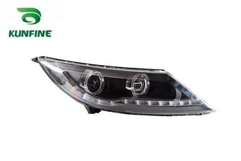 Pair Of Car Headlight Assembly For KIA SPORTAGE R 2011 Tuning Headlight Lamp Parts Daytime Running Light Angel eyes Bi Xenon