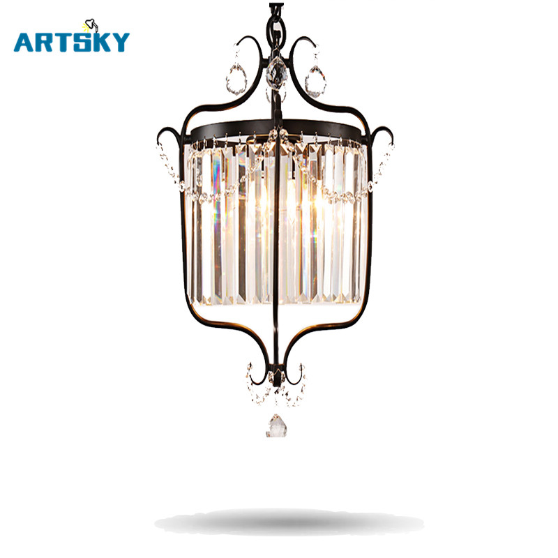 European Crystal Chandelier  Lights  Pendant Lamp  for Dining Room  Bedroom Cloakroom Stairs crysta lamp pendant lights lounge dining room bedroom lamp lychee simple new european style warm crystal hanging lamp