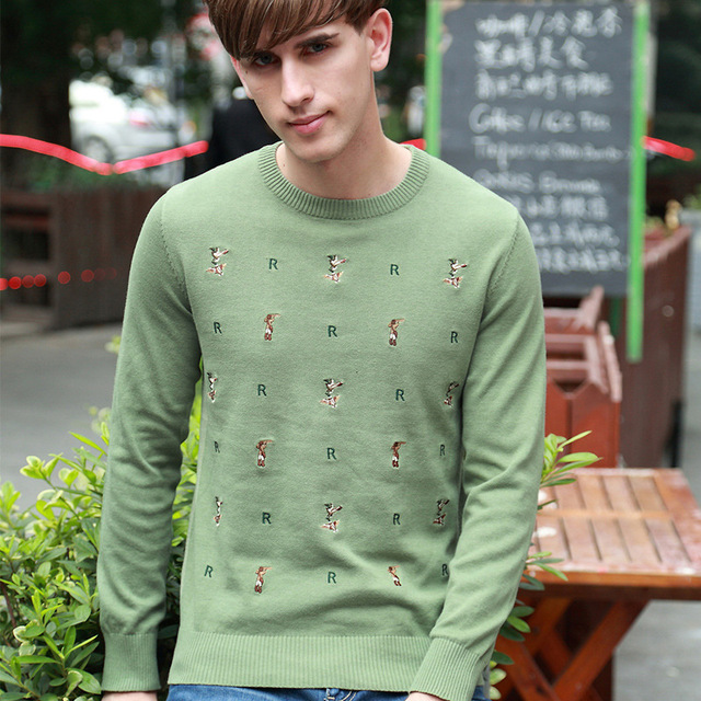 Men Autumn Winter Brand Wool Knitted Sweater Personality ...