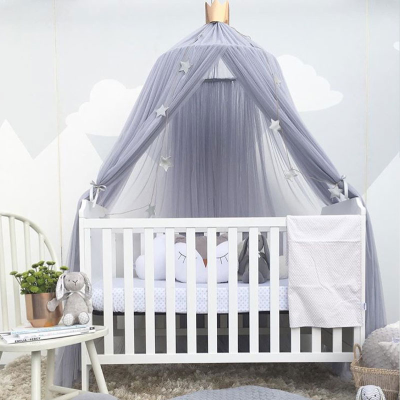 Breathable Palace Style Baby Play Tent Crib Netting Bed Mantle Bedding Nets Dome Tent Kids Room Decor Infant Room Bed Curtain -in Crib Netting from Mother ... & Breathable Palace Style Baby Play Tent Crib Netting Bed Mantle ...