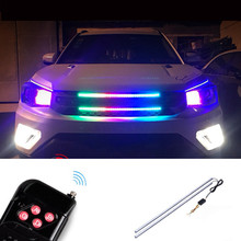 RGB светодио дный светодиодный Knight Rider Switchback струящаяся Поворотная сигнальная лампа 60 см световая полоса светодио дный машина-Стайлинг передняя решетка световая полоса