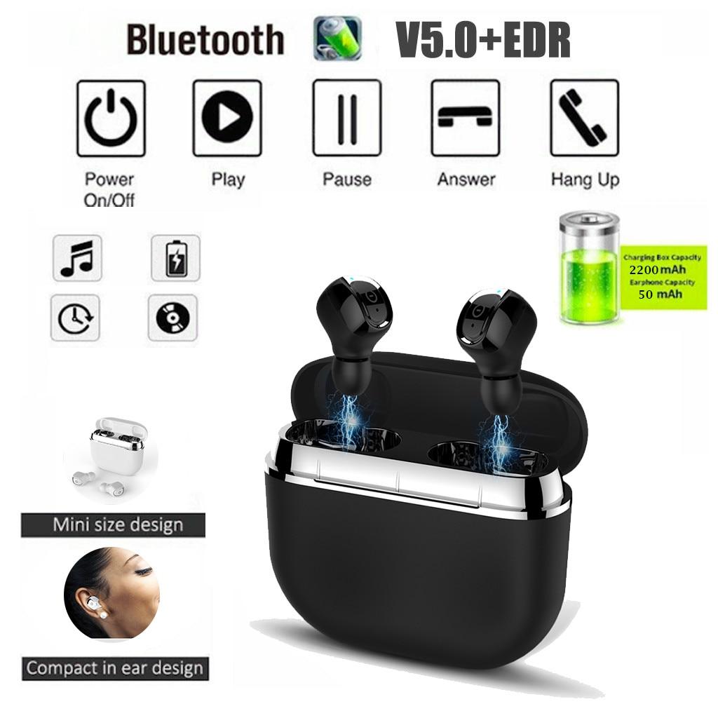 2019 New Bluetooth 5.0TWS Sport IPX67 Headset Wireless Earphone 2200mAH Charging Box sport running wireless bluetooth headset