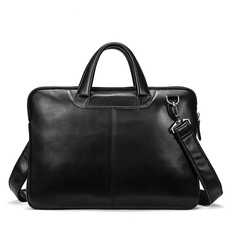 Genuine Leather Men Briefcase Bolso Hombre Cowhide Leather Business Men Handbags Laptop Computer Bag Crossbody Shoulder Bag