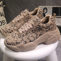 Moxxy Leopard Shoes Woman Winter Sneakers Fashion Chunky Sneakers Women Platform Sneakers Casual Plush Dad Shoes trainers Spring