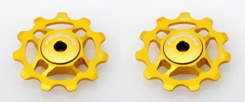 Fouriers CNC Alloy Road Bike Bicycle Jockey Wheel Pulley CR-steel Seal Bearing 11T For Rear Derailleur