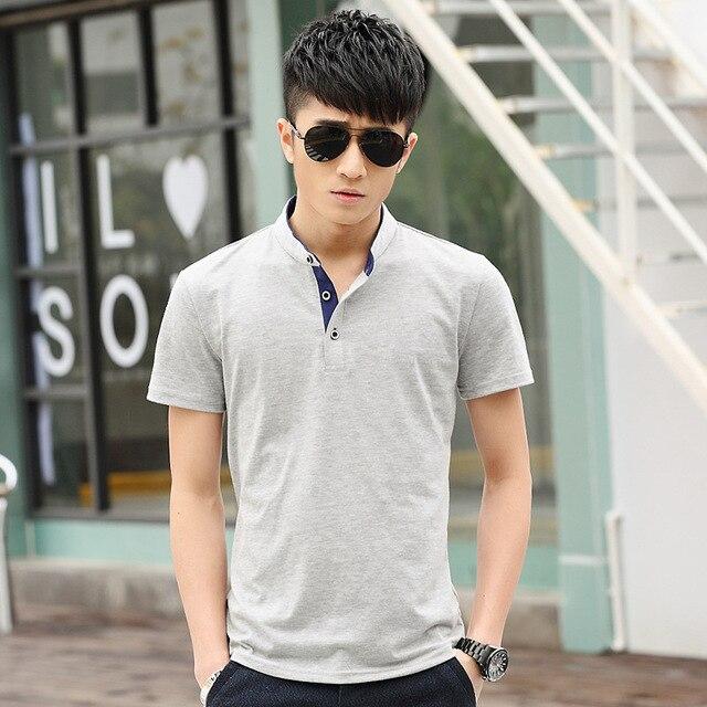 Летом 2016 весной и летом взрыв модели торговли мужская с коротким рукавом polo рубашка прилив Корейских мужчин мужской моды polo одежда