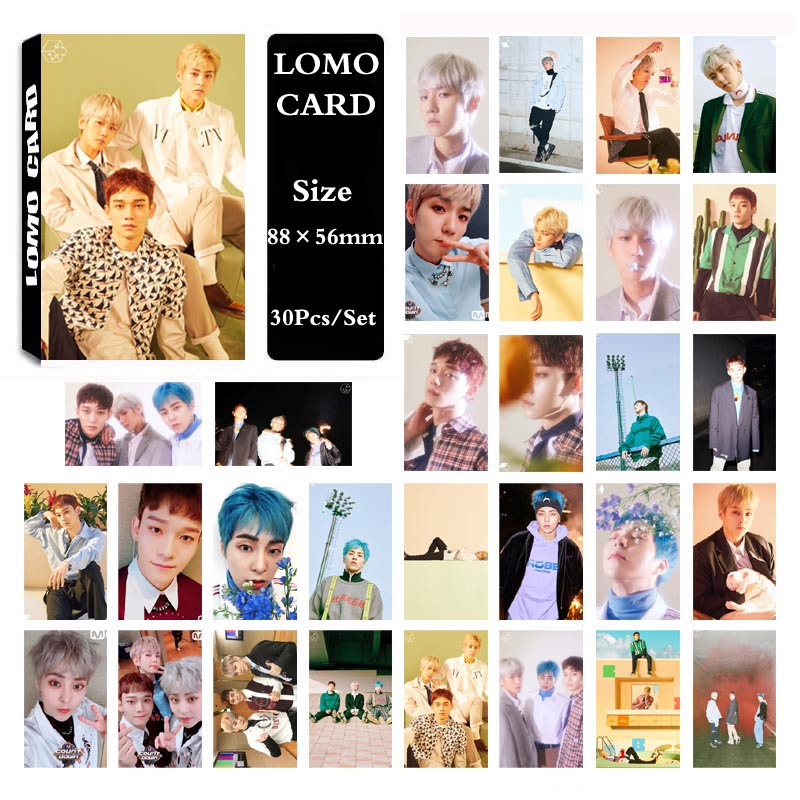 Kpop Exo Cbx Blooming Days Album Sticky Crystal Photo Cards Xiumin Chen Photocard Sticker Poster 10pcs Jewelry & Accessories