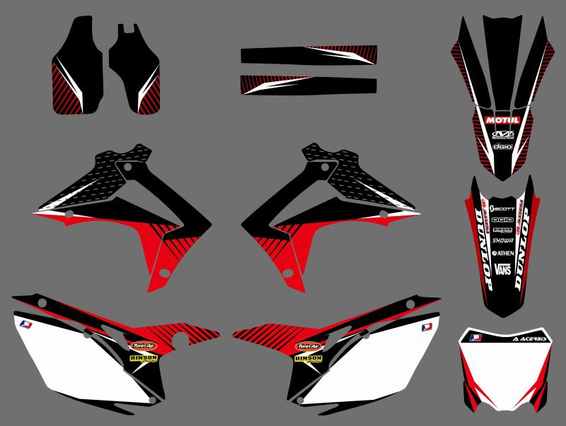 H2CNC Graphics Decal Sticker For Honda CRF250R CRF250 2014-2016 & CRF450R CRF450 2013 2014 2015 2016 CRF 250 250R 450 450R new crf250 crf450 after motocross fender masonry for honda
