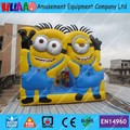 Free Shipping 2016 New PVC Inflatable Minions Bouncer Castle Slide Combo with Free CE Blower