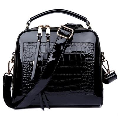 2016 New Women Messenger Bags Patent Leather Handbags Ladies Fashion Shoulder Bags Bolsas AWM105