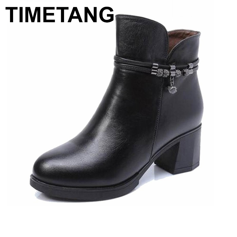 TIMETANG 2019 autumn winter women boots genuine leather womens mar boots shoes fashion ankle boots comfortable women shoes TIMETANG 2019 autumn winter women boots genuine leather womens mar boots shoes fashion ankle boots comfortable women shoes