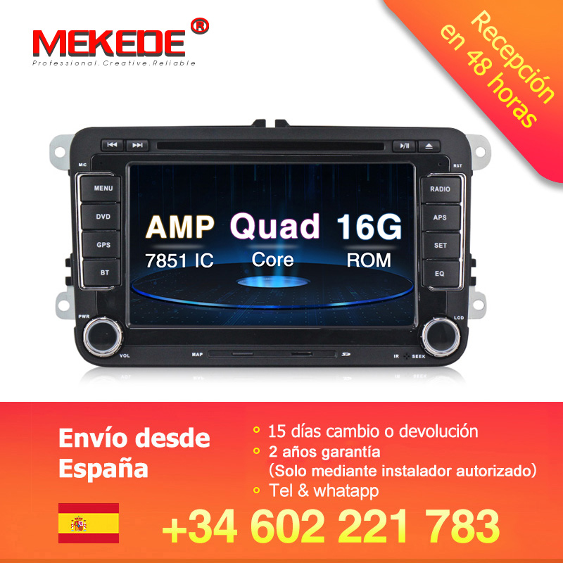 MEKEDE free shipping Android 8 1 Car Video Player For Volkswagen POLO PASSAT TOURAN Golf Skoda
